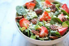 Strawberry Quinoa Salad with Balsamic Vinaigrette