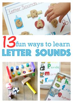learning letter sounds can and should be fun!