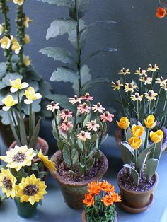 1/24th Helenium Paper Flower Kit for 1/2 by TheMiniatureGarden