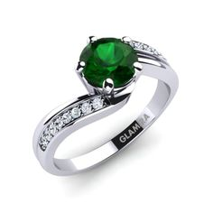 Glamira is one of the finest shopping arenas for purchasing emerald engagement rings. They are well known for quality and also for having the best of designs in the market for all kinds of customers. Glamira Ring, Successful Marriage, Personalized Jewelry, Emerald, Wedding Rings, Engagement Rings, Stone, Stuff To Buy, Unique