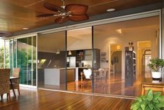 retractable screen and blind system for windows and doors Fly Screen Doors, Stacker Doors, Retractable Screen Door, Screened In Patio, Folding Doors, Indoor Outdoor Living, Sliding Glass Door, Glass Doors, Patio Doors