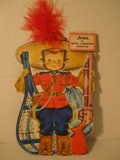 Vintage Hallmark Dolls of the Nations John, A Royal Canadian Mountie 1948 Card