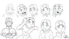 Avatar Aang Expression Study by DESneaky