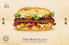20. The Mona Lisa Cheeseburger Recipe -Created by a culinary artist who works with a flame and a spatula, The Mona Lisa is a cheeseburger masterpiece that's bound to put a smile on anyone's face. If Leonardo da Vinci were still wielding his paintbrush today, it's very likely he'd be a card-carrying member of the Cheese and Burger Society.