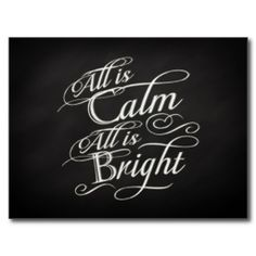 All is Calm, All is Bright Chalkboard Christmas Postcards