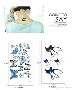 Sexy Temporary Tattoo Stickers Woman Men Waterproof Best Cover Scar Stylish Stickers