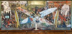 After the Rockefeller Center mural was destroyed in 1934, Diego Rivera recreated this version, named Man, Controller of the Universe, which ...