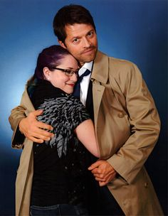 Misha and a fan...