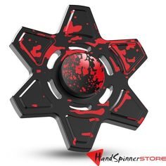 Fidget Spinner Hex Design Metal Hand Spinner Toy