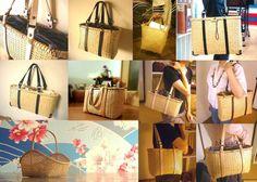 bamboo tote bags by Tamotsu Nishimoto