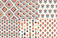 RETRO Geometric Patterns by adehoidar on Creative Market