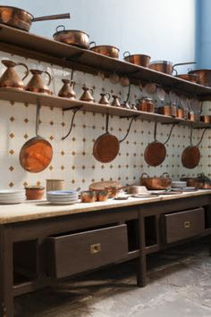 The Great Kitchen at Tredegar House, Newport, South Wales.