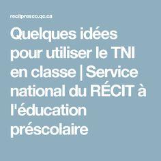 Quelques idées pour utiliser le TNI en classe | Service national du RÉCIT à l'éducation préscolaire