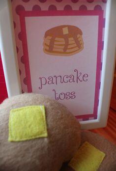 pancake toss (pancakes and pajamas party)