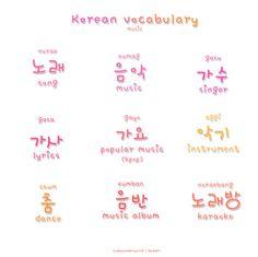 ❋learn korean - music related words❋