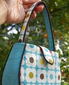 """Here's the katybag - the newest pattern I've been developing. And by """"developing"""", I mean """"mass-producing to get it right"""". It's a teeny li..."""
