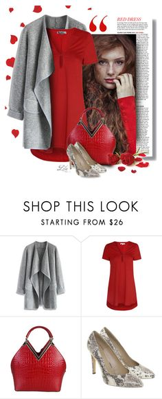 """""""Hot Red Dress"""" by fashion-architect-style ❤ liked on Polyvore featuring Tourne, Chicwish, Glamorous, Stefanel, women's clothing, women, female, woman, misses and juniors"""