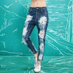 bleached jeans pants