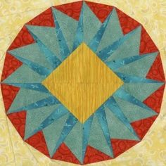 Rana Quilt Block - the colors are awful, but the design has a lot of potential!