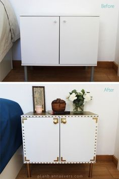 Boring piece gets a great makeover. Night table makeover - 22 Creative DIY Furniture Makeover Projects