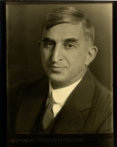 Black and white photograph of Radoslav Tsanoff, wearing a suit, 1926