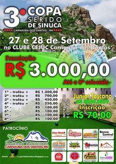 Portal Esporte São José do Sabugi: 3ª Copa Seridó de Sinuca acontecerá nos dias 27 e ...