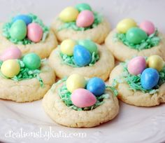 Easter Nest Cookies on MyRecipeMagic.com