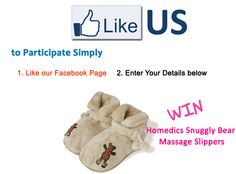 Win Snuggly Bear Massage Slippers