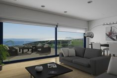 Interior de las viviendas de San Roque Conference Room, Flat Screen, Couch, Table, Furniture, Home Decor, Apartments, Yurts, Beach Houses