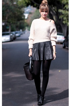 Rock the COLD season with this outfit.  http://www.candymag.com/fashion/style-equation-sweater-pleated-