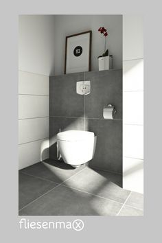 Ideen für dein Gäste WC Fliese in Betonoptik Top Preis The post Ideen für dein Gäste WC appeared first on Wohnung ideen. House Design, Home Accessories, Kitchen Ornaments, Guest Bathroom, Guest Toilet, Toilet, Bathrooms Remodel, Bathroom Decor, Mirror Room Divider