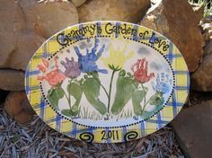 Handprint, footprint, and fingerprint pottery and gifts - Be Wild for Art, Norman OK