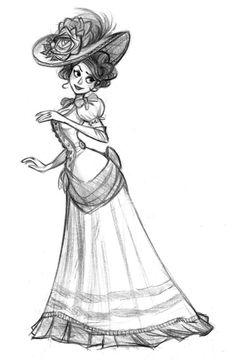 "elgunto: ""Old sketch… but I still like it… "" Girl Drawing Sketches, Cartoon Girl Drawing, Drawing Poses, Cartoon Art, Cool Drawings, Character Sketches, Character Design Animation, Character Drawing, Art Reference Poses"