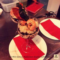 Balloon di Panzanella di Mare con Concassè di Pomodoro Datterino, Polipo,Cozze e Scampi (San Valentino) #SanValentino #Assisi #Restaurant #Hotel #Food