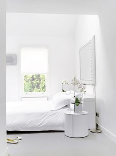 Nothing like an all white bedroom.