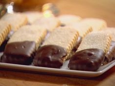 Shortbread Cookies dipped in Chocolate - from Ina Garten, gets 5 stars