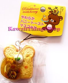 RARE Sanx Kiiroitori tag honey toast squishy by Kawaiithingsshop, £12.50