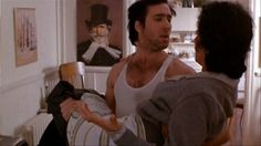 "Nicolas Cage + Cher in ""Moonstruck"" Movie Stars, Movie Tv, Cher Photos, Bed Scene, Oscar Winning Movies, Snap Out Of It, Boy Meets Girl, Nicolas Cage, Love Film"