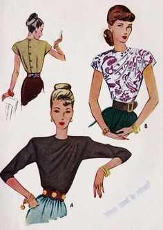 1940s Misses Blouse Office Fashion. Possible pattern for No 13?