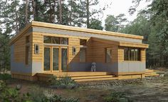 Prefab modular cabins, pretty cool little movement that has been picking up speed over the last few years.
