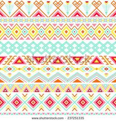 Ethnic seamless pattern. Aztec colorful striped background. Tribal, ethnic, navajo print. Modern abstract wallpaper. Soft colors. Vector illustration.