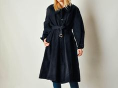 Etsy の Vintage French Military Navy Coat by maevenvintage