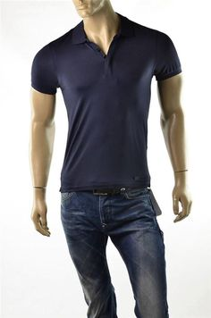 Mens Shirt A/X Armani Exchange Slinky Polo S/S Navy Blue Shirt SZ S T-shirt NWT #ArmaniExchange #PoloRugby