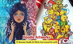 25 Awesome Doodle Art Works from around the World. Read full article: http://myartmagazine.com/doodle-art-works | more http://myartmagazine.com/other-drawings