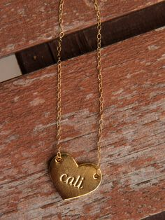 Gold Cali Heart  // Handmade in Orange County