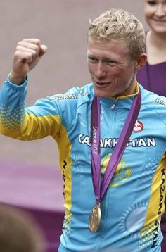 Viva Vino! I'm so excited for his win. He ends his career in style. Vinokourov grabs gold in Olympics cycling road race