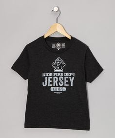 Take a look at this Smoke Jersey Tee - Toddler & Kids by Kids Fire Dept. on #zulily today! #jersey #firefighter