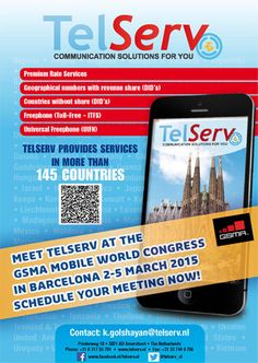 Make your appointment with TelServ for GSMA Mobile World Congress now!