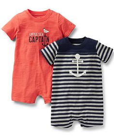 Carter's Baby Boys' 2-Pack Rompers - Kids Baby Boy (0-24 months) - Macy's