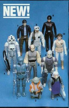 """ Kenner The Empire Strikes Back wave of action figures released May Star Wars Figurines, Star Wars Toys, Star Wars Art, Retro Toys, Vintage Toys, 70s Toys, Jouet Star Wars, Figuras Star Wars, Star Wars Merchandise"